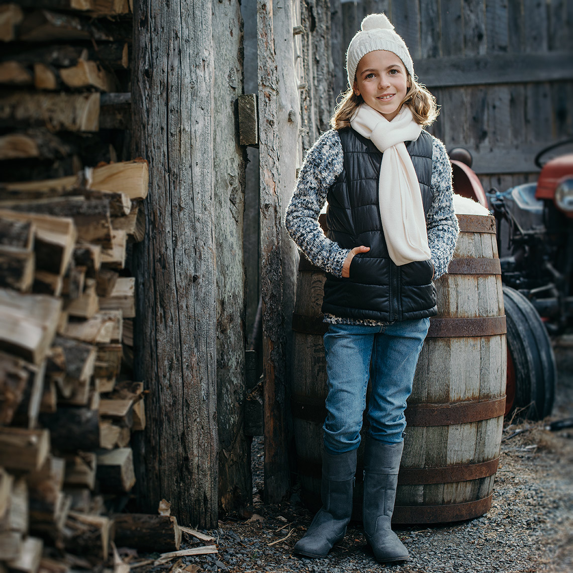 outdoor winter fashion portrait photographer