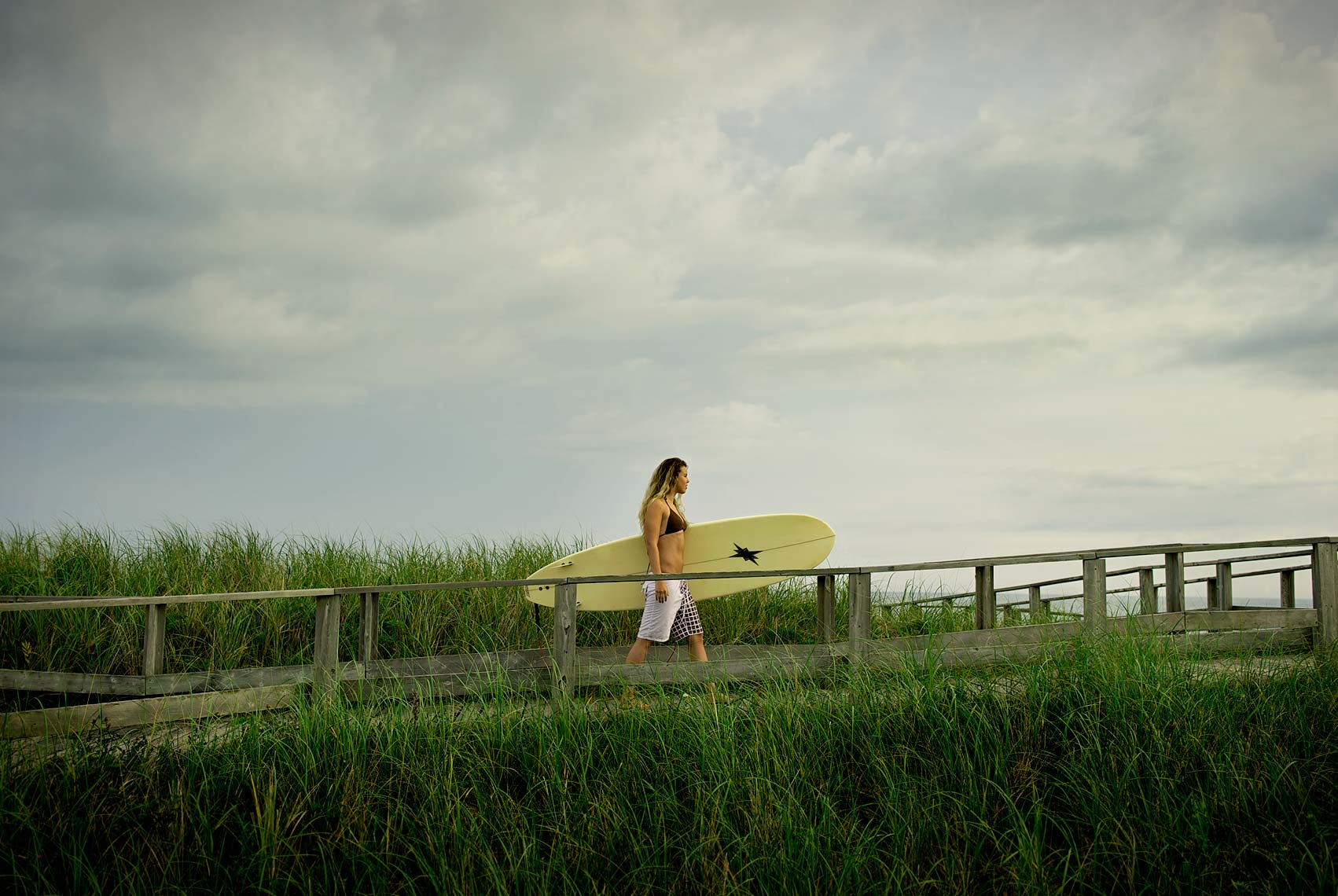 Lifestyle shoot of surfer